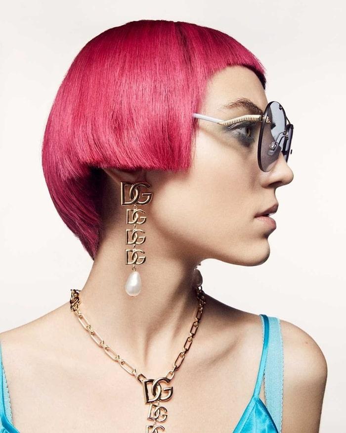 Dolce and Gabbana 2021 Geometric Transparency Sunglasses New