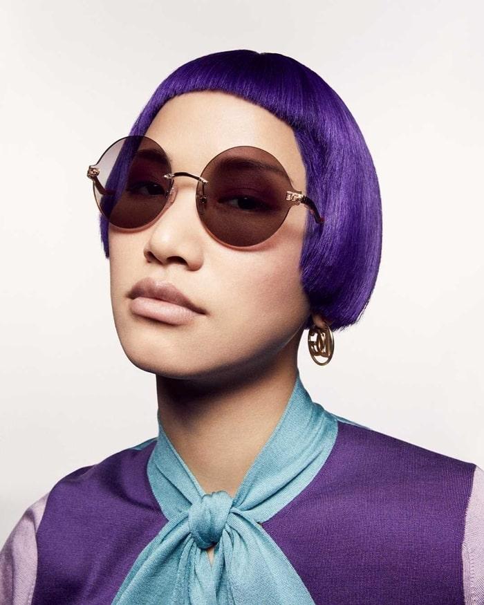 Dolce and Gabbana 2021 Geometric Transparency Sunglasses - Round Shape