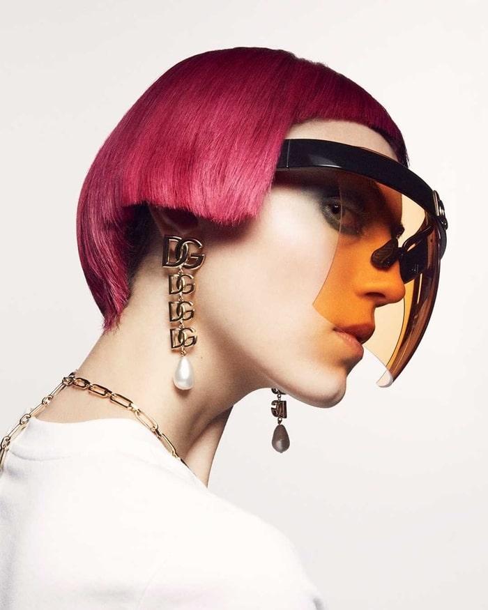 Dolce and Gabbana 2021 Geometric Transparency Sunglasses