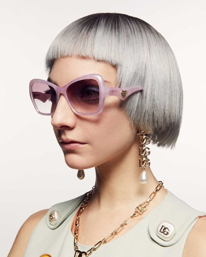 The New Dolce and Gabbana 2021 Geometric Transparency Sunglasses