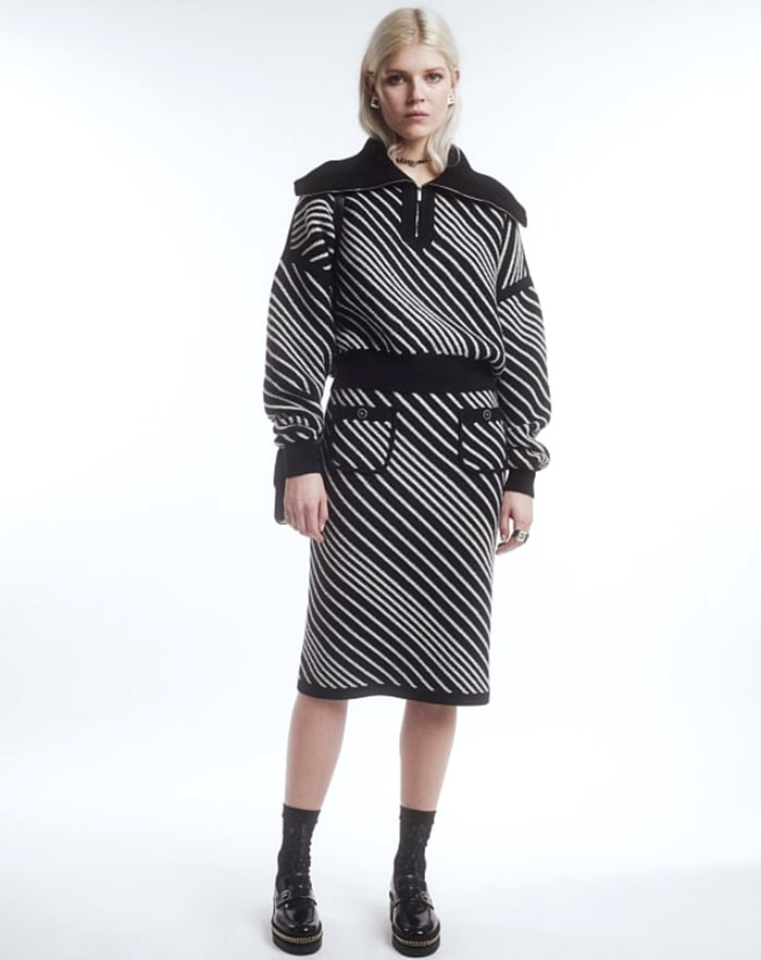 Chanel Fall-Winter 2021-22 pre collection featuring Ola Rudnicka