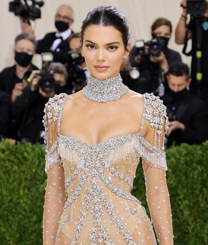MET Gala 2021 Red Carpet Looks Kendall Jenner Givenchy nude gown