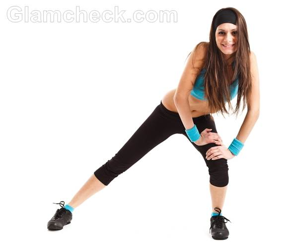 woman aerobics exercise