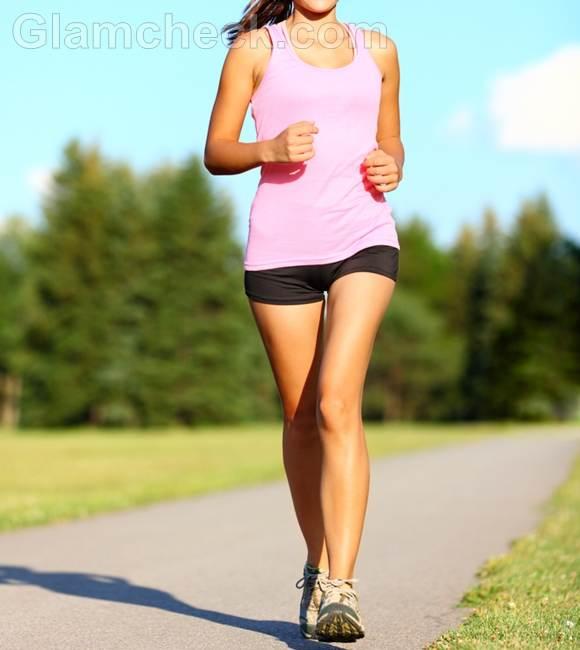 woman walking exercise