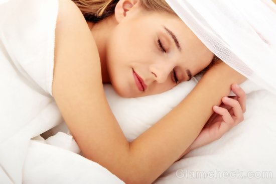 woman sleeping during periods