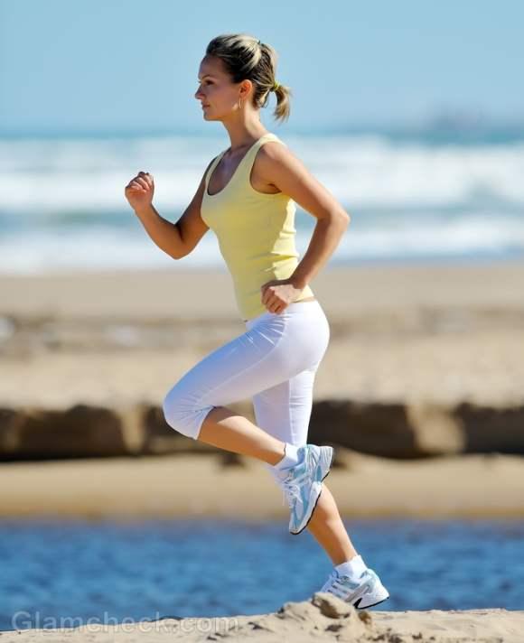 Beach workouts jogging