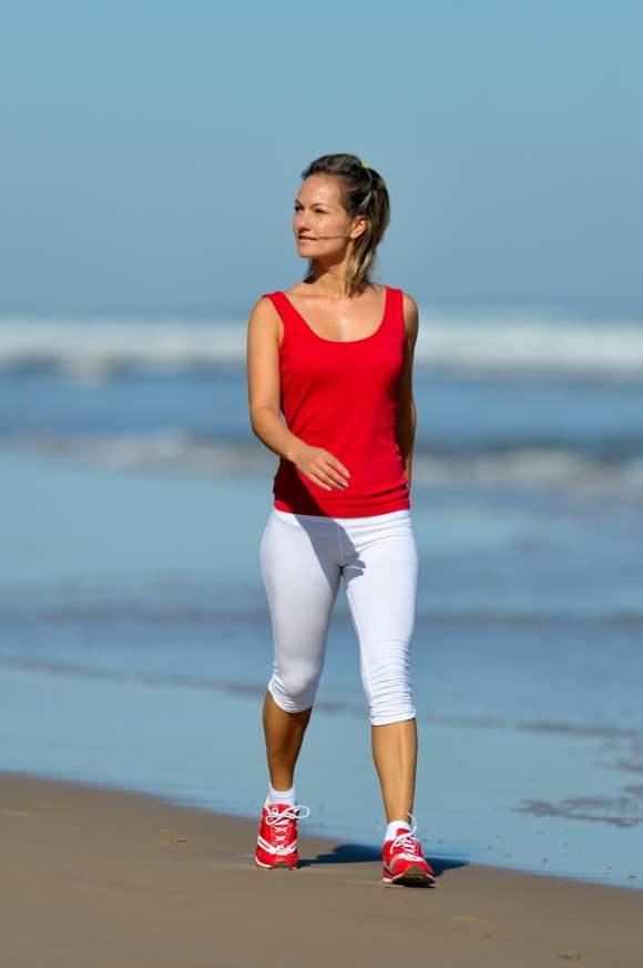 Summer workouts brisk walking