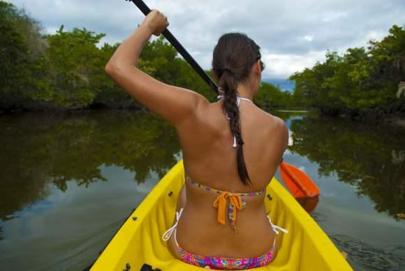 Summer workouts kayaking
