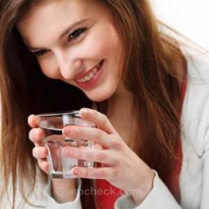 Skin benefits drinking water