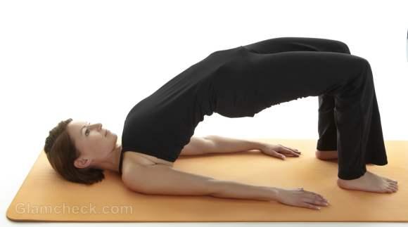 periods yoga setu bandha sarvangasana